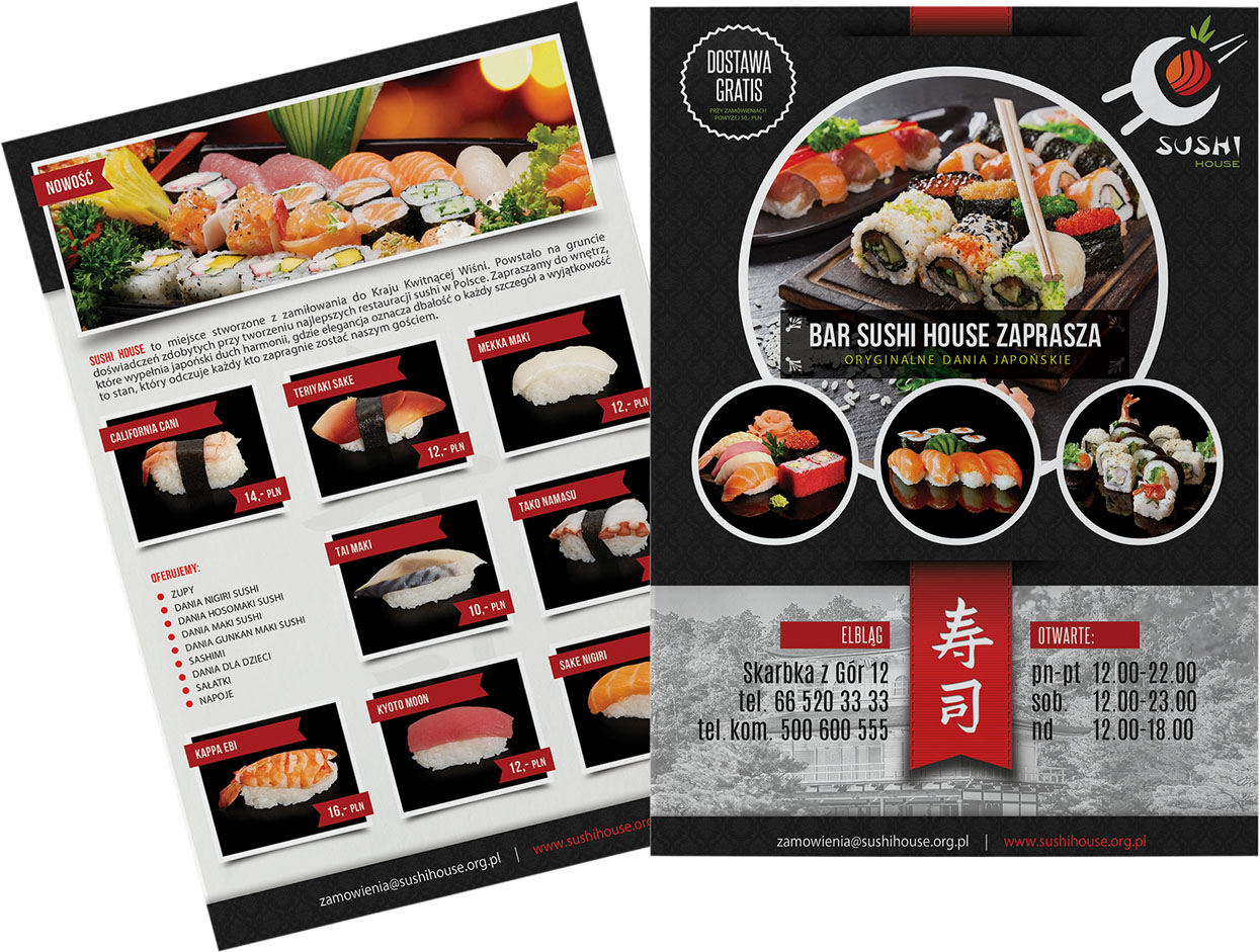 ulotka sushi